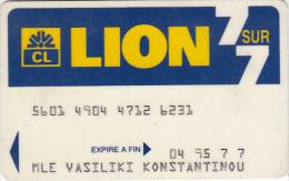 FRANCE - Lion, Credit Lyonnais Debit Card, Used - Geldkarten (Ablauf Min. 10 Jahre)