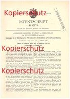 Original Patent - Gottlieb Johannes Schmidt In Ober Peilau / Pilawa Górna , 1880 , Eisenbahn , Gnadenfrei , Schlesien !! - Schlesien
