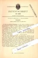 Original Patent - August Menzel In Eilsleben , 1881 , Riemenspanner , Maschinenbau  !!! - Germany