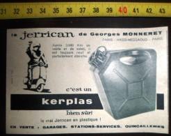 PUBLICITE JERRICAN DE GEORGES MONNERET KERPLAS - Collections