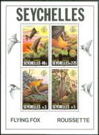1981 Seychelles Fauna Pipistrelli Bats Chauves Souris Block MNH** Fo124 - Seychelles (1976-...)