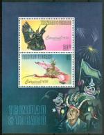 1975 Trinitad & Tobago Maschere  Masks Masques Block MNH** Fo124 - Trindad & Tobago (1962-...)