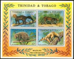 1978 Trinitad & Tobago Animali Animals Animaux Block MNH** Fo124 - Trindad & Tobago (1962-...)