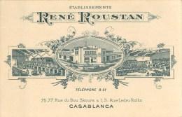 Cpa Pub - Ets René ROUSTAN- à Casablanca - Maroc - ** Vin, Liqueur & Alcool ** - Carte En Bon état. - Factures & Documents Commerciaux