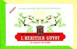 BUVARD BLOTTER :Une creme de Cassis a l'eau  L'HERITIER GUYOT  Dijon  grenouilles
