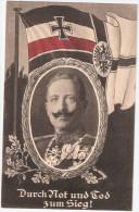 Kaiser Wilhelm II Uniform Orden Eichenkranz Reichskriegs Flagge Patriotika TOP-Erhaltung Ungelaufen - Personnages