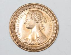 "Ebauche De Cuivre De Jeton ""Reine Victoria - Empress Of India - Jubilee 1837-1887"" Queen Victoria Token - Indes - Royaux/De Noblesse"