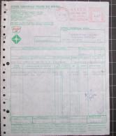 """1973 EMA Affrancatura Meccanica Rossa Su Fattura """" A.C.I.O.M. SINCLAIR - GENOVA """" - Affrancature Meccaniche Rosse (EMA)"""