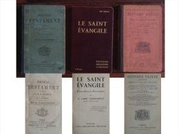 3 Ouvrages Religieux : Nouveau Testament - Saint évangile - Histoire Sainte - 1901-1940