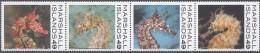 MARSHALL ISLANDS, 2014,MNH, MARINE  LIFE, SEAHORSES, STRIP OF 4v - Maritiem Leven