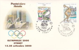 Italy 2000 Sydney Olympics FDC - Ete 2000: Sydney