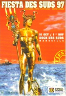 """Carte Postale """"Cart´Com"""" (1997) - Conseil Général Du 13 - Fiesta Des Suds 97 - Marseille (statue D´Apollon) - Publicidad"""