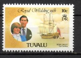 Tuvalu 1981 - Principe Carlo E Lady Diana, Prince Charles And Lady Diana MNH ** - Tuvalu