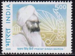 India MNH 2005,  Sardar Pratap Singh Kairon, Architect Of Punjab Development, Mechanized Agriculture, Wheat. - Nuovi