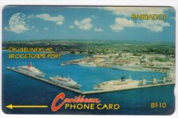 BARBADES CARAIBES MV Cards BAR-10A Bridgetown Port 10$ CN 10CBDA - Barbades