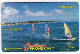BARBADES CARAIBES MV Cards BAR-10B Windsurfing 20$ CN 10CBDB - Barbades