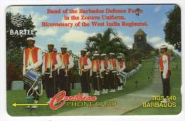 BARBADES CARAIBES MV Cards BAR-88A Defense Force Band 40$ CN 88CBDA - Barbades