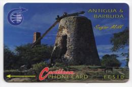 ANTIGUA & BARBUDA CARAIBES MV Cards ANT-6A  Sugar Mill 10$ CN 6CATA - Antigua Et Barbuda
