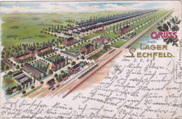 1904 D. Reich, MILITARIA, EF. BESSERE Karte, LAGER Lechfeld, gelaufen. MK