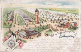 1908 D. Reich, MILITARIA, EF. BESSERE Karte, TRUPPEN�BUNGSPLATZ D�beritz, gelaufen. MK