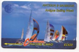 ANTIGUA & BARBUDA CARAIBES MV Cards ANT-13A  Sailing Week1 20$ CN 12CATB - Antigua Et Barbuda