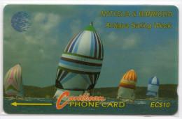 ANTIGUA & BARBUDA CARAIBES MV Cards ANT-7A  Sailing Weeks1 10$ CN 7CATA - Antigua Et Barbuda
