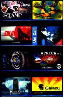 8 Verschiedene Prepaid Card Telefonkarten  -  Just Mobile Card  -  Uni Call  -  3 X Lycatel  -  Simra   (11) - Telefonkarten