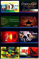 8 Verschiedene Prepaid Card Telefonkarten  -  Crazy Call  -  Tele Green  -  3 X Lycatel  -  Magic   (12) - Telefonkarten