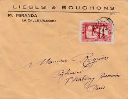 ALGERIE LETTRE AVEC ENTETE DE LA CALLE POUR PARIS 1938 - Algérie (1924-1962)