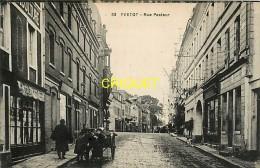 Cpa 76 Yvetot, Rue Pasteur, Commerces, Groupe D'enfants Et Charrette, Carte Pas Très Courante - Yvetot