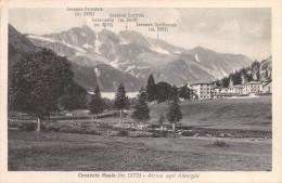 """01261 """"(TORINO) CERESOLE REALE M. 1572 ARRIVO AGLI ALBERGHI""""   CART. POST.  SPEDITA 1933 - Other Cities"""