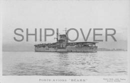 Porte-avions BEARN (Marine Nationale) - Carte Photo éd. Marius Bar - Bateau/ship/schiff - Guerre