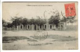 CPSM TIRMAN (Algérie) - Les Ecoles Et La Mairie - Other Cities
