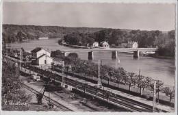 """CHARTRETTES - Au Débouché Du Vallon Du """"châtelet"""", Le Pont De Fontaine-le-Port - Gare - Voie Ferrée - Grue - De Massy - France"""