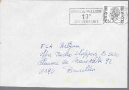 LIEGE 1977 Opéra De Wallonie 10e Anniversaire - Vlagstempels