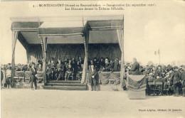 MONTESCOURT (Aisne) -- En Reconstitution -- Inauguration (25 Septembre 1921) Deux Petit Pli Coins Du Haut - France