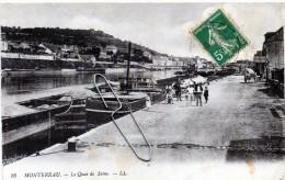 77  MONTEREAU  Le Quai De Seine     D678   9/3/15 - Autres Communes