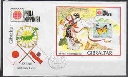 Gibraltar 1991 Philanippon M/s FDC (F2888) - Gibraltar