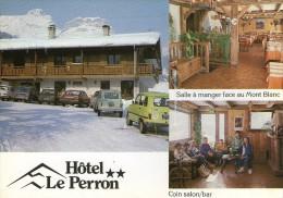 W09 DEPT 74 CPSM CORDON HOTEL RESTAURANT LE PERRON   VOYAGEE  VOIR DOS - Non Classés