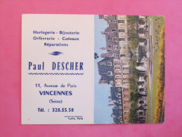 Petit Calendrier 1965 - Horlogerie Bijouterie à Vincennes - Paris Place Des Vosges - Calendriers