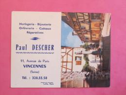 Petit Calendrier 1965 - Horlogerie Bijouterie à Vincennes - Riquewihr (Haut-Rhin) - Petit Format : 1961-70