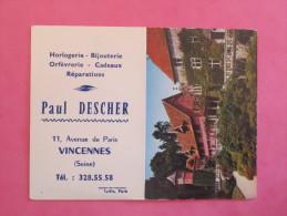 Petit Calendrier 1965 - Horlogerie Bijouterie à Vincennes - Parc Zoologique De Clères - Calendriers