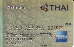 Thailand Membercard Thai Airline Flugzeug Orchid American Express Platinum - Vliegtuigen