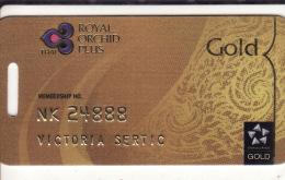 Thailand Membercard  Royal Orchid Plus Gold Thai Airline - Vliegtuigen