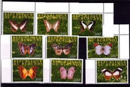 V] Série Complete Set ** Burundi Papillons 2009 Butterfly Farfalla Mariposa