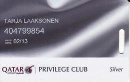 Qatar Membercard  Airline Privileg Club - Vliegtuigen
