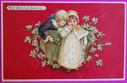 Cpa Un Grand Secret Raphael Tuck Serie 414 Carte Postale Vierge 1906 Enfants Children Kinder Un Mot à La Poste - Tuck, Raphael