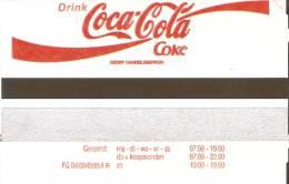 TARJETA DE PARKING DE COCA-COLA  (COKE) (no Es Tarjeta Telefonica) - Publicidad