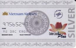 Vietnam Membercard  Airline Golden Lotus Silver Card - Vliegtuigen