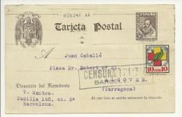 ESPAÑA - TARJETA ENTERO POSTAL Nº 83 / CERVANTES - 1931-50 Used